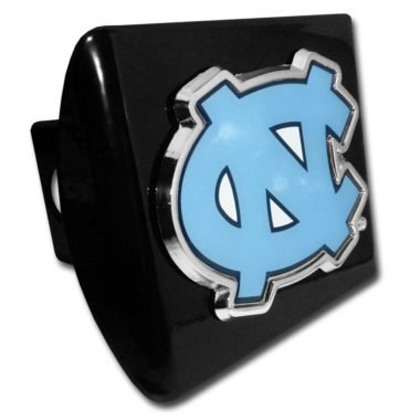 North Carolina State Hitch Cover (University of North Carolina Color Emblem on Black Hitch Cover )
