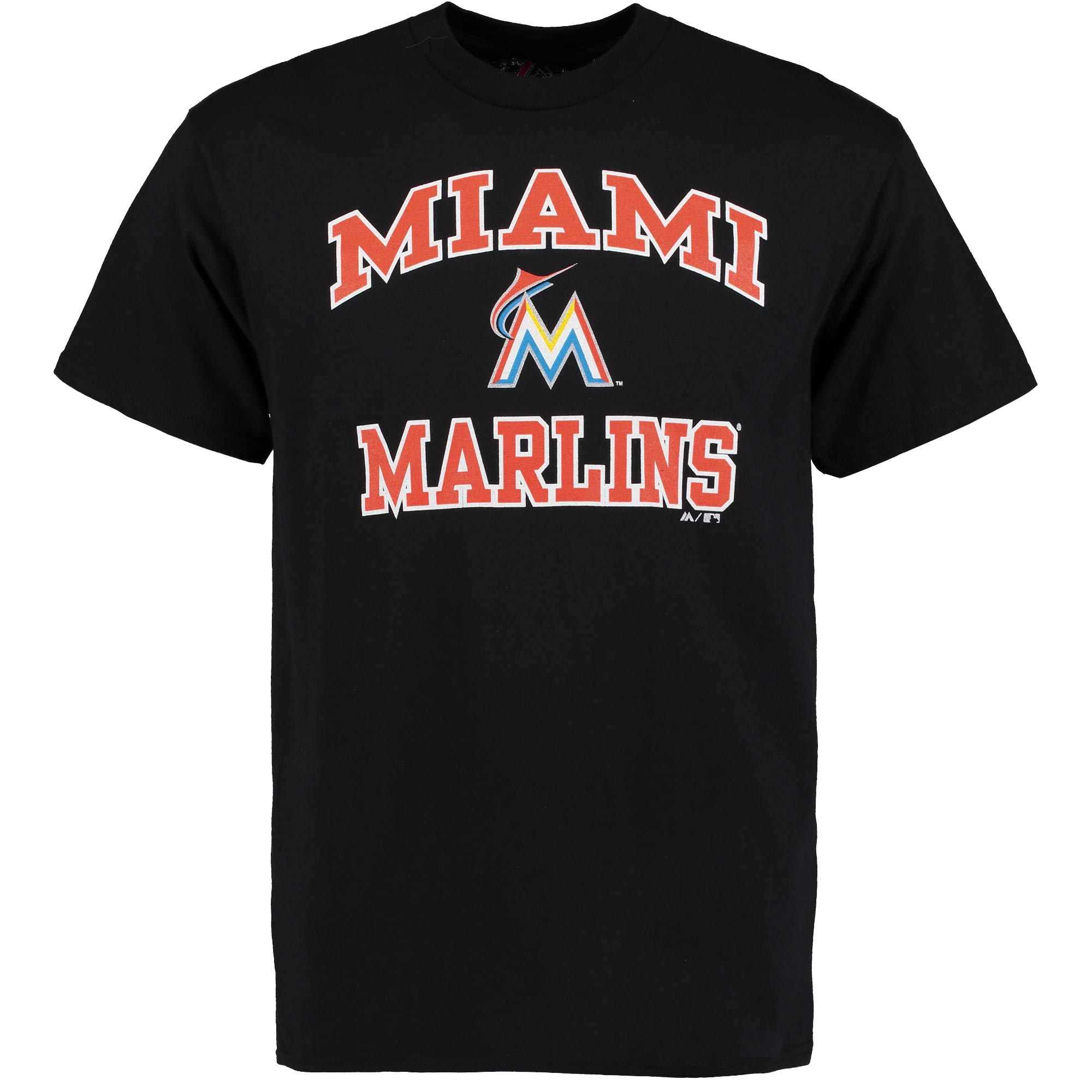 Miami Marlins Majestic Heart and Soul T-Shirt - Black