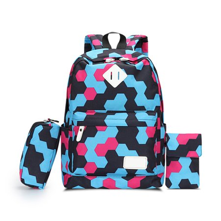 98f1419c5 cottcuboaba - Casual Preppy Style Canvas Backpack Set 3 Pieces Travel  Backpack School Bag - Walmart.com