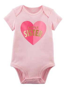 38f522528864 Product Image Carter's Baby Girls' Little Sister Collectible Bodysuit, Pink