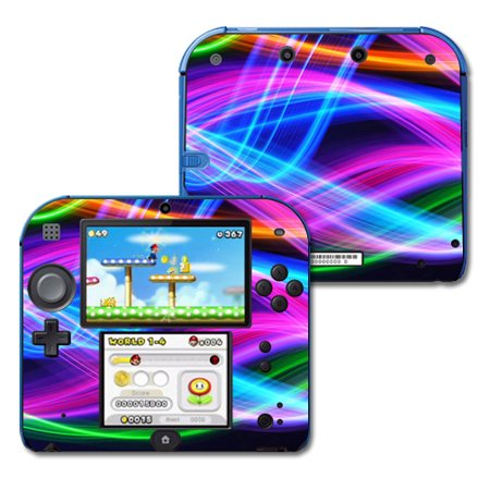 Skin Decal Wrap for Nintendo 2DS sticker Light Waves
