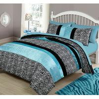 Your Zone Zebra Bedding Comforter Set