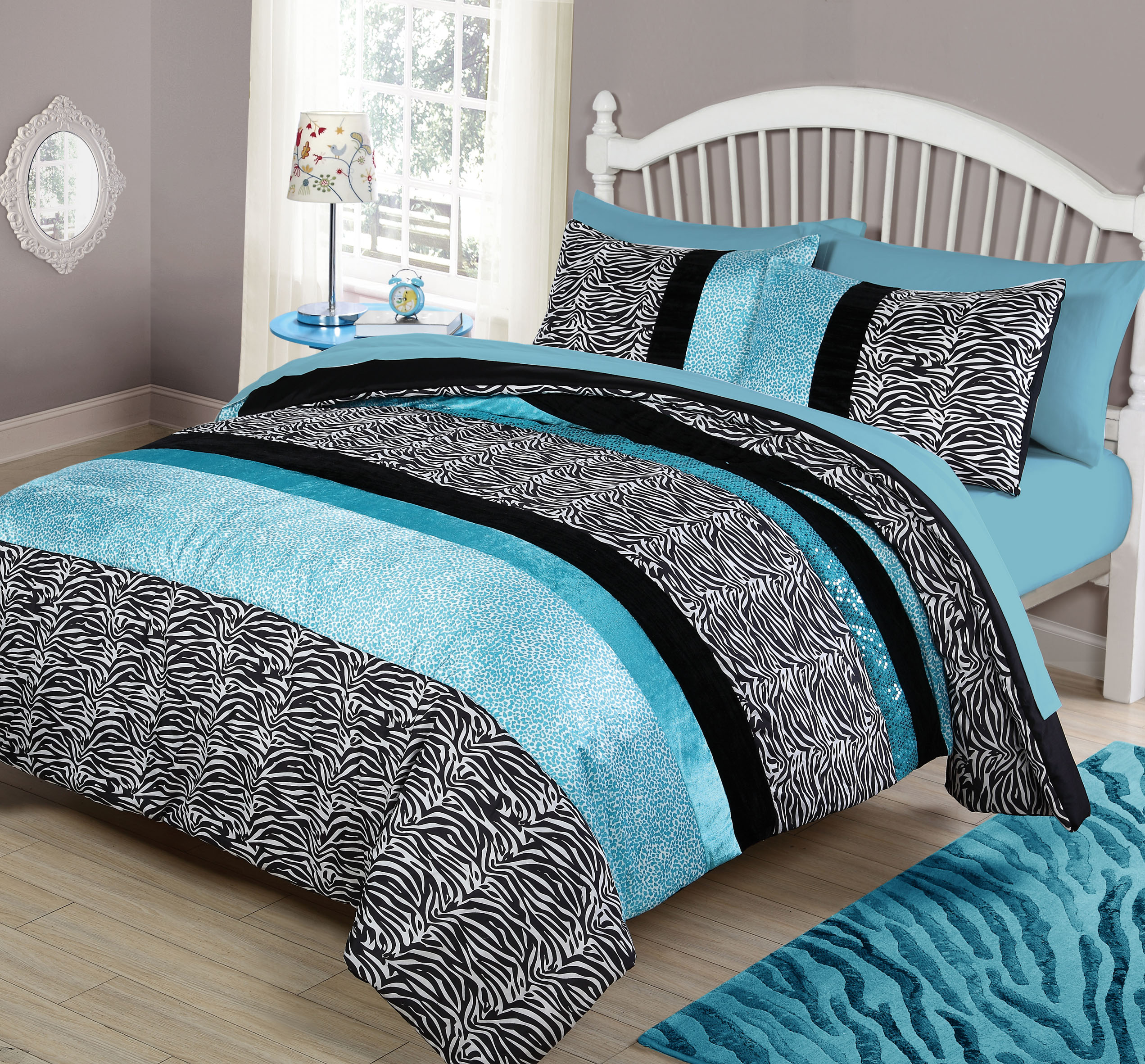 Your Zone Zebra Bedding Comforter Set, 1 Each