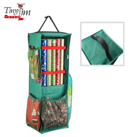 Gift Bag Organizer (Tiny Tim Totes | Four Sided | Premium Hanging Gift Wrap and Bag)