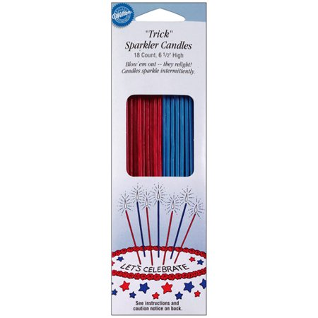 Wilton 65 Trick Sparkler Candles Cake Decorations Patriotic 18 Ct 2811 704