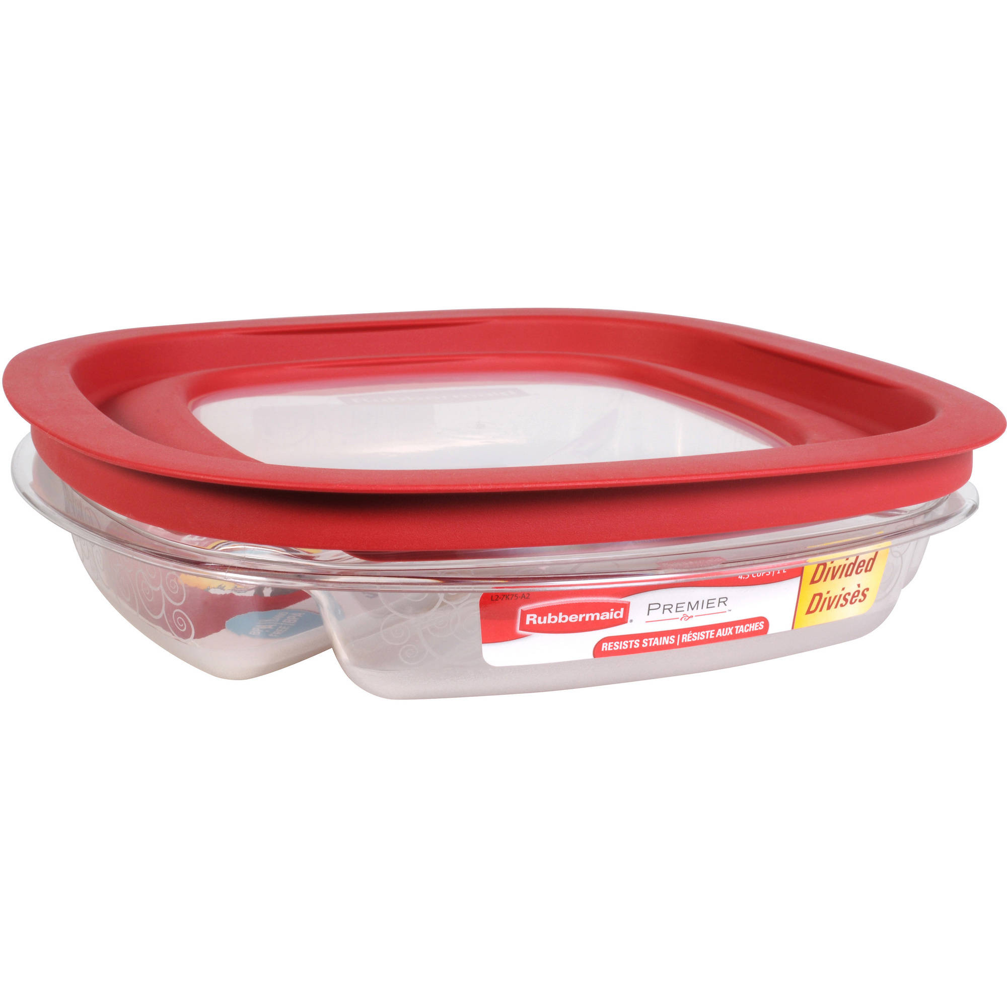 Rubbermaid FG7K75TRCHILI 43 Cup Divided Premier Food Storage