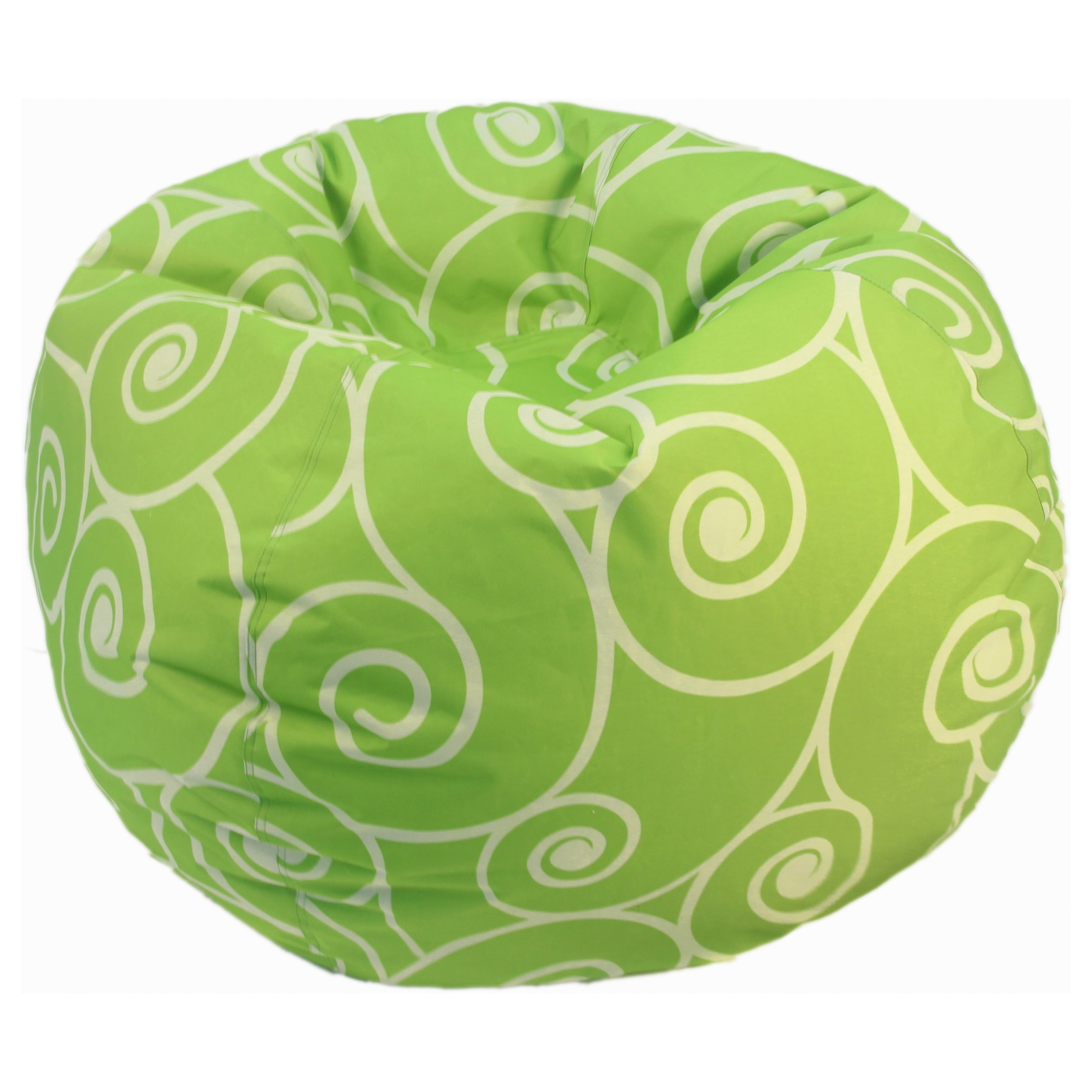 Theater Bags Lime Scrolls and Swirls Bean Bag Chair