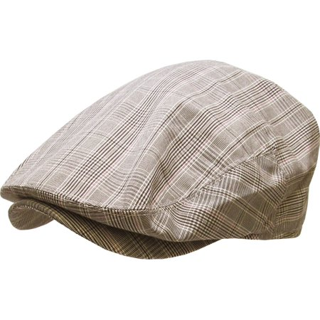 Plaid Cabbie Newsboy & Ascot Ivy Hat Cap Plaid Solid Gatsby Golf NEW - Newsboy Hat