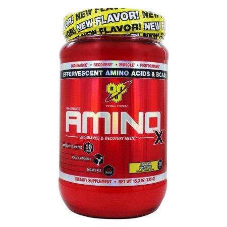- Amino X BCAA poudre Endurance et récupération Agent Ananas Tropical - 153 onces.