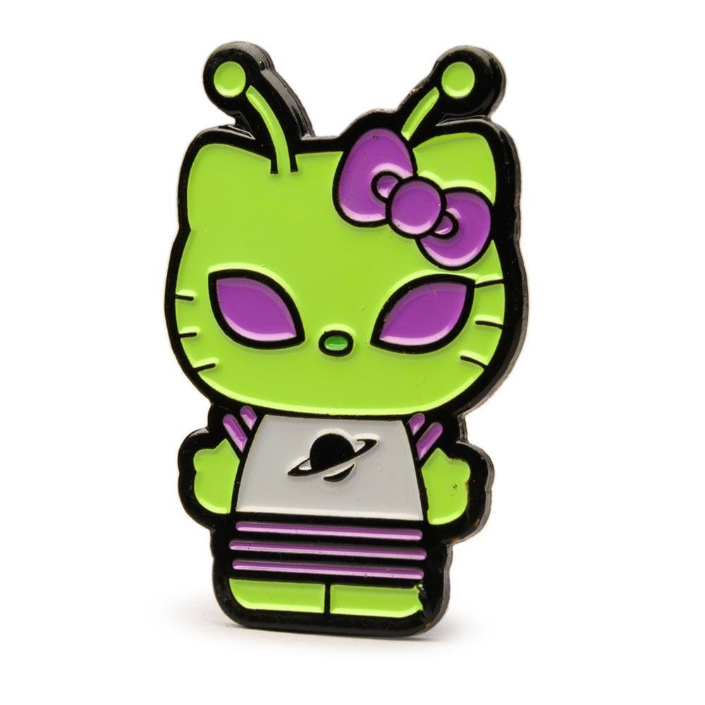 "Kidrobot HELLO KITTY TIME TO SHINE Mini Series GREEN ALIEN 3/"" Vinyl Figure"