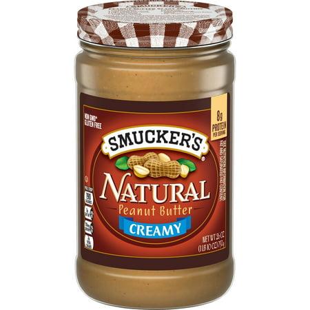 5293339325c Smucker's Natural Creamy Peanut Butter, 26-Ounce - Walmart.com