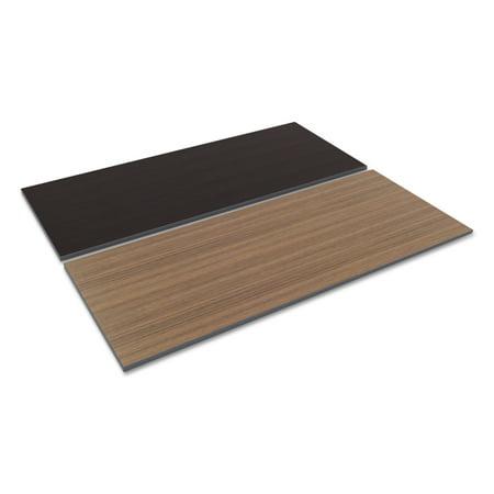 Table Toy (Alera Reversible Laminate Table Top, Rectangular, 71 1/2w x 29 1/2d, Espresso/Walnut)