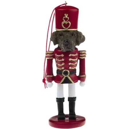 Easy Hang Dog Nutcracker Ornament Original Suit, Chocolate