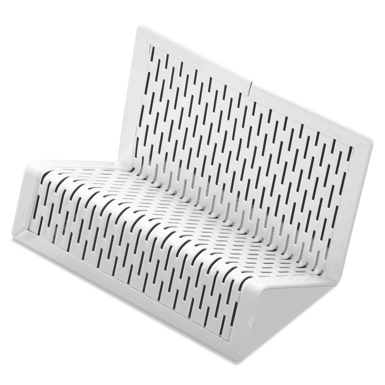 Urban Collection Punched Metal Business Card Holder, White