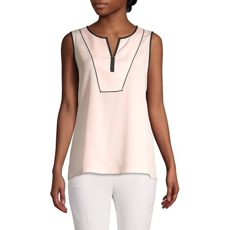 Bebe Sleeveless (Split Neck Sleeveless Top )
