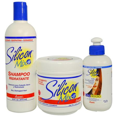 Silicon Mix Shampoo  Treatment And Leave In Conditioner Trio Set