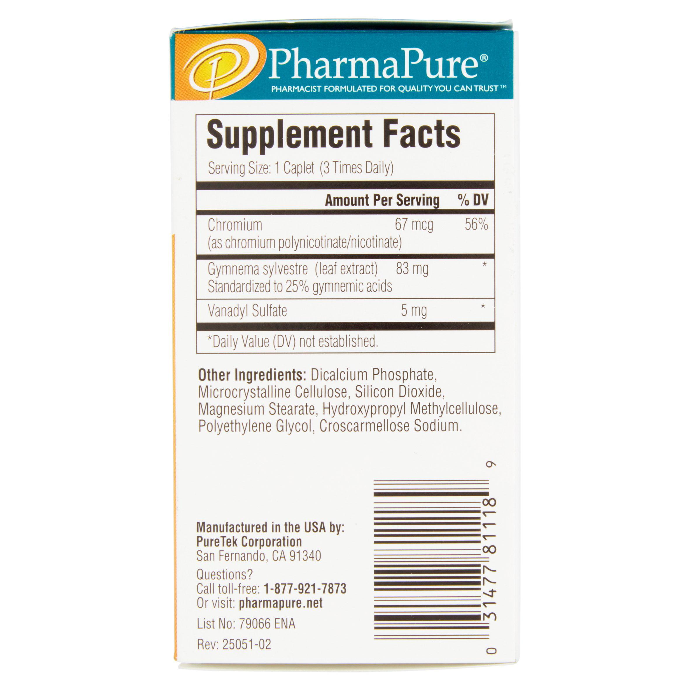PharmaPure Sugar Blocker Diet Caplets, 90 Ct