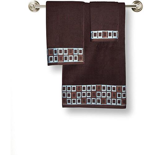 Hometrends Gridlock 3 Piece Towel Set