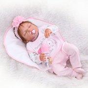 "Zimtown 22"" Reborn Baby Dolls Silicone Girls Lifelike Realistic Toys Newborn Baby"
