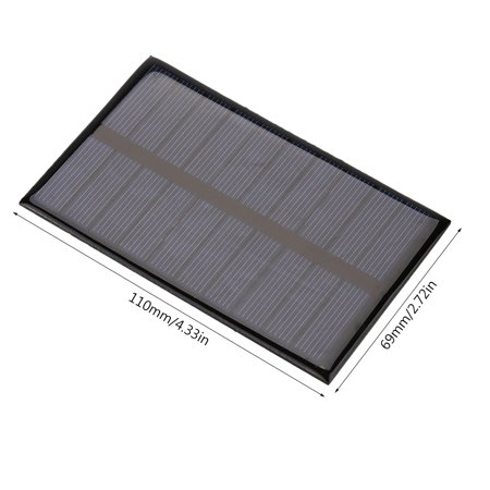 Sonew 1.2W 5V Mini Portable Polycrystalline Solar Panel DIY Power Module Charger 110*69mm, Battery Solar Panel, Mini Solar Panel - image 4 of 8