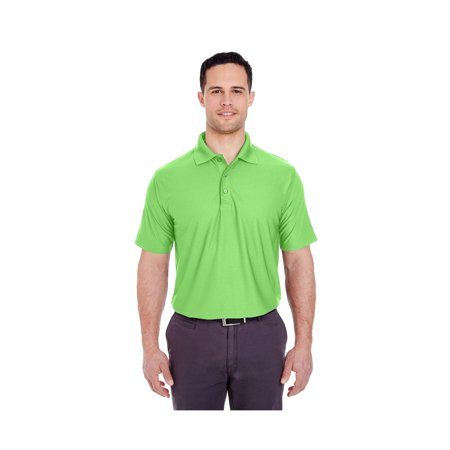 UltraClub Men's Cool & Dry Box Jacquard Polo Shirt, Style