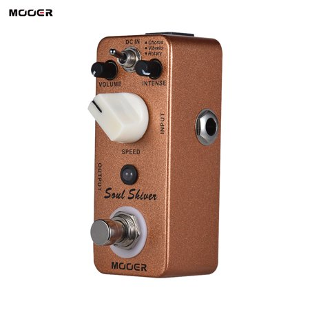 MOOER Soul Shiver 3 Modes Multi Modulation Guitar Effect Pedal True Bypass Full Metal