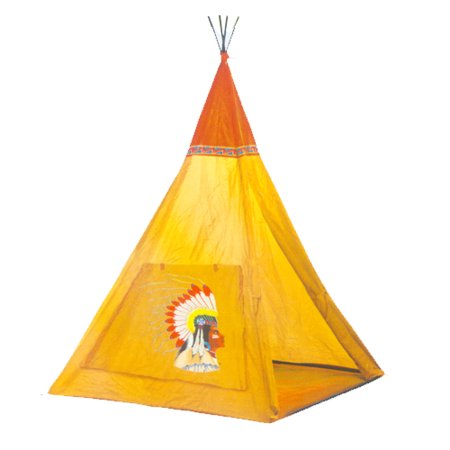 POCO DIVO Apache Indian Teepee Tripod Play Tent Kids Adventure Hut (Art For Kids Hub Halloween)