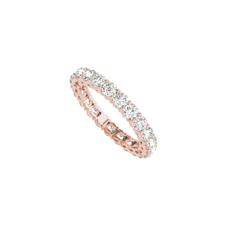 Ladies Full Circle Diamond Eternity Ring 14K Rose (Circle Rose Ring)