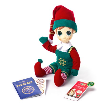 Portable North Pole Green Do-Good Elf™ with Personalized Video Messages from Santa](Elf On The Shelf Green)
