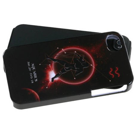 Apple Iphone 4 4S Mybat Protector Case  Aquarius Horoscope Collection Fusion