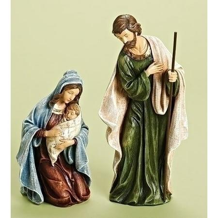 2-Piece Holy Family Religious Christmas Nativity Statues - Religious Christmas Plays