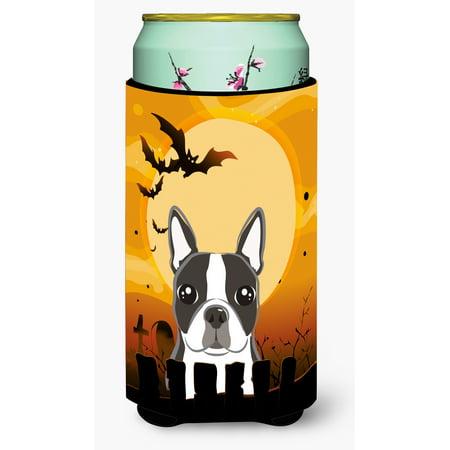 Halloween Boston Terrier Tall Boy Beverage Insulator Hugger BB1761TBC - Halloween Events In Boston