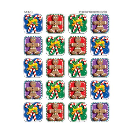 CANDY CANES/GINGERBREAD 120 STICKER