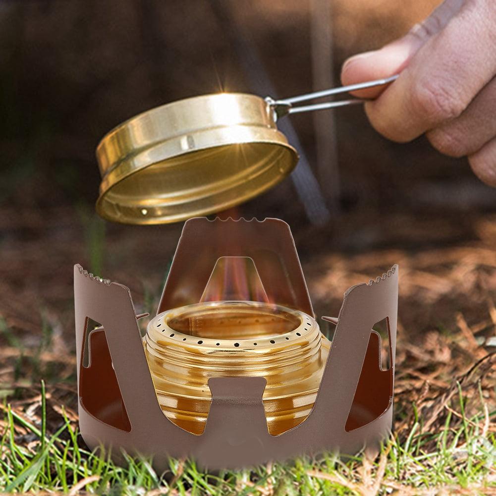 Mini Alcohol Spirit Burner Copper Alloy Stove Outdoor Camping Hiking Survival BA