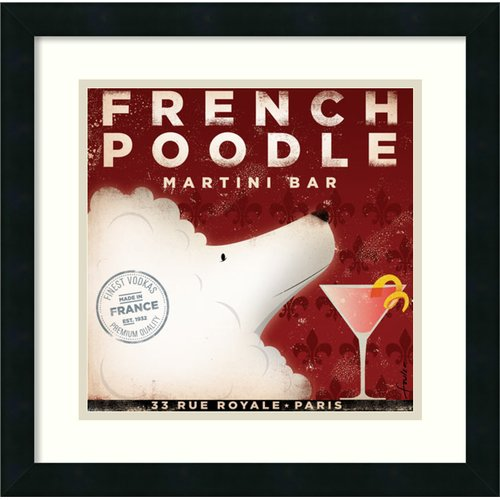 Amanti Art 'French Poodle' by Stephen Fowler Framed Graphic Art by Amanti Art