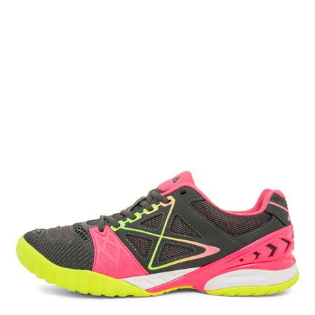Fila Women's Cage Delirium Tennis Shoes GreyPinkYellow