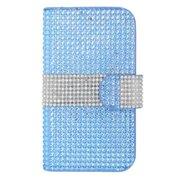 Insten Flip Leather Case For Apple iPhone 6 6s / HTC One M7 M8 LG Tribute HD X Style Google Nexus 4 5 K7 / Motorola Droid Maxx Moto G (3rd Gen) / Samsung Galaxy Sol On5 Grand Prime S3 S4 - Light Blue