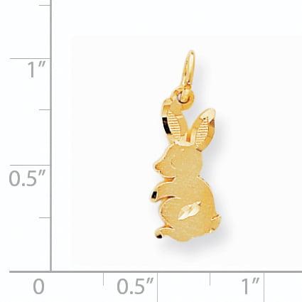 10K Yellow Gold BABY BUNNY CHARM - image 1 of 2