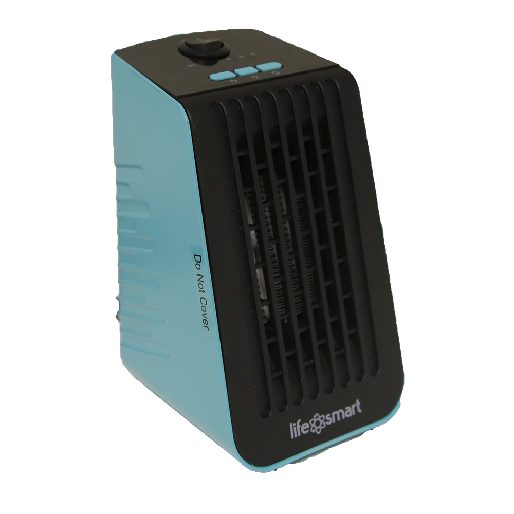 Life Smart Desktop Fanfunction Portable Heater Cubicle Coral Cooltouch Turquoise