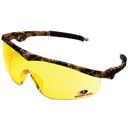 Mossy Oak Safety Glasses, Clear-Mirror Anti-Scratch Lenses, Camouflage Frame