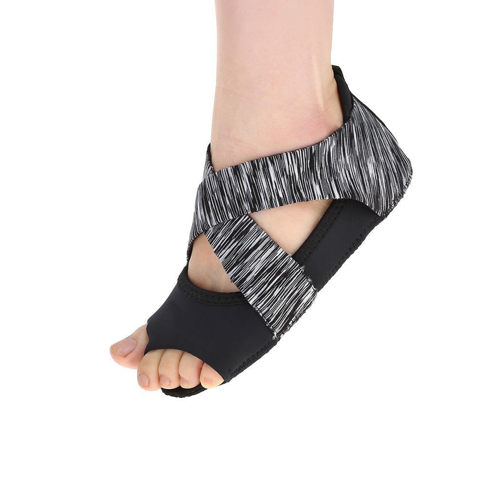 Women Yoga Shoes Wrap Non-slip Pilates Barre Open-toed Dance Soft Cozy  S//M//L