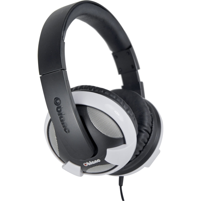 SYBA Multimedia - OG-AUD63052 - SYBA Multimedia Oblanc U.F.O. White Subwoofer Headphone W/In-line Microphone - Stereo -