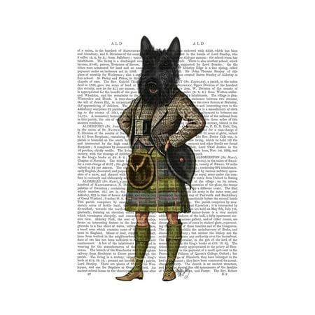 Scottish Terrier in Kilt Print By Fab Funky