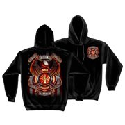 Firefighter True Heroes Sweatshirt by , Black, 2XL