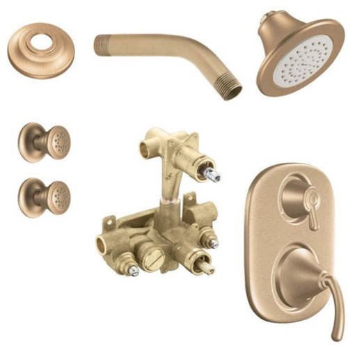 Moen Kspic-sb-ts283cr Icon Vertical Spa Kit with Shower, Available in Various Colors