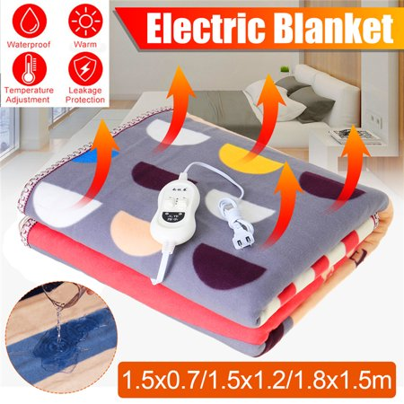 150x70CM/150x120CM/150x180CM, Soft Winter Electric Heated Blanket Waterproof Automatic Power-Off Protection Heating Blanket Adjustable Temperature w/ Controller - image 1 of 11