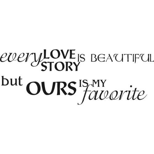 Everything Vinyl Decor Love Story Vinyl Wall Art
