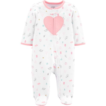 Child of Mine by Carter's Zip-up sleep n play pajama (baby girls)](Christmas Pajamas Baby)