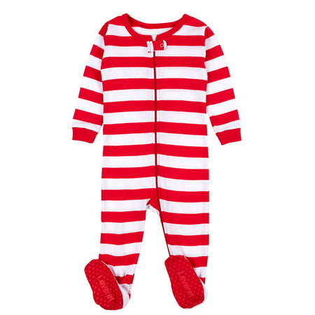 3c9a534566 Leveret Striped Baby Boys Girls Footed Pajamas Sleeper 100% Cotton Kids    Toddler Christmas Pjs (0-3 Months