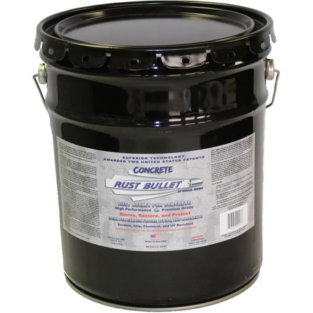 Rust Bullet For Concrete, Protective Floor Coating, 5-Gallon -
